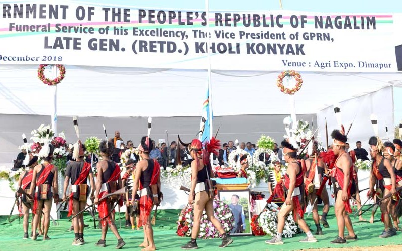 Thousands pay emotional tribute to late General Kholi Konyak