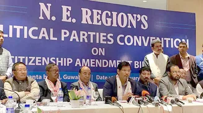 NE parties decide to oppose Citizenship Bill together