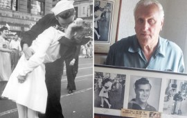 George Mendonsa, US WWII 'kissing sailor', dies aged 95