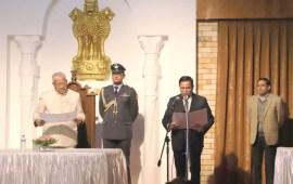 Guv administers oath to Justice  U N Singh as Nagaland Lokayukta