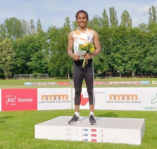 Hima returns to 400m run, grabs 5th gold in July