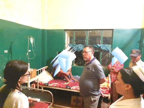 Pangnyu visits DHD; inspects prison ward