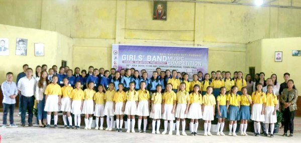 Girls music band competition for Chozuba sub division
