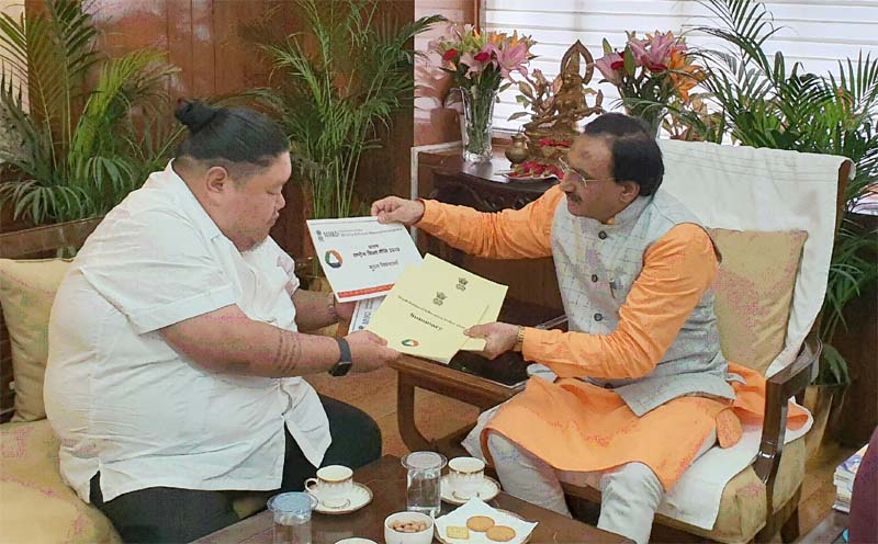 Temjen Imna discusses projects with Union Ministers