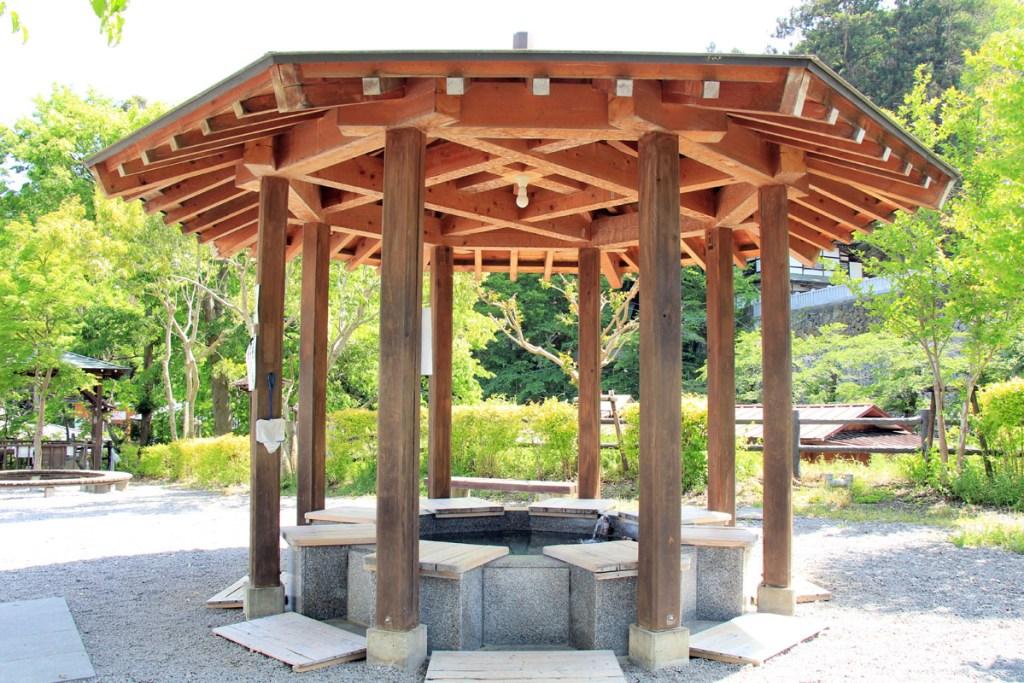 Footbath of Bessho onsen in ueda, nagano