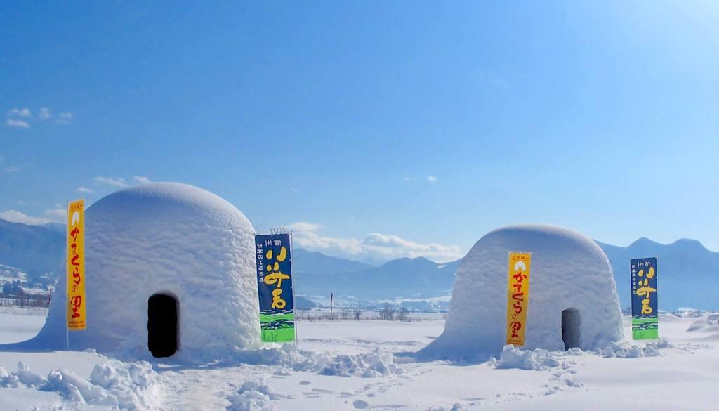 Snow festival in Iiyama city, Nagano