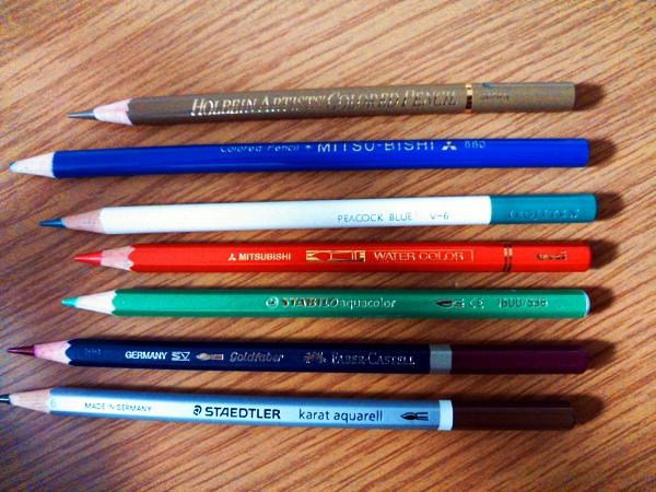 s-大人の塗り絵 色鉛筆種類
