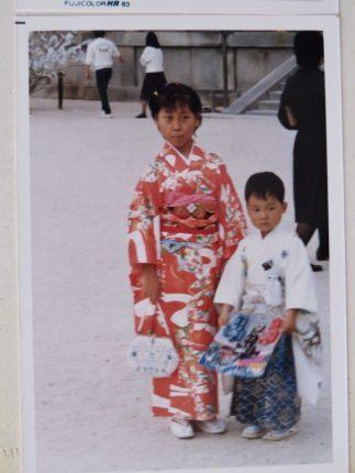 My sister and me My Shichigosan Heianjingu in Kyoto