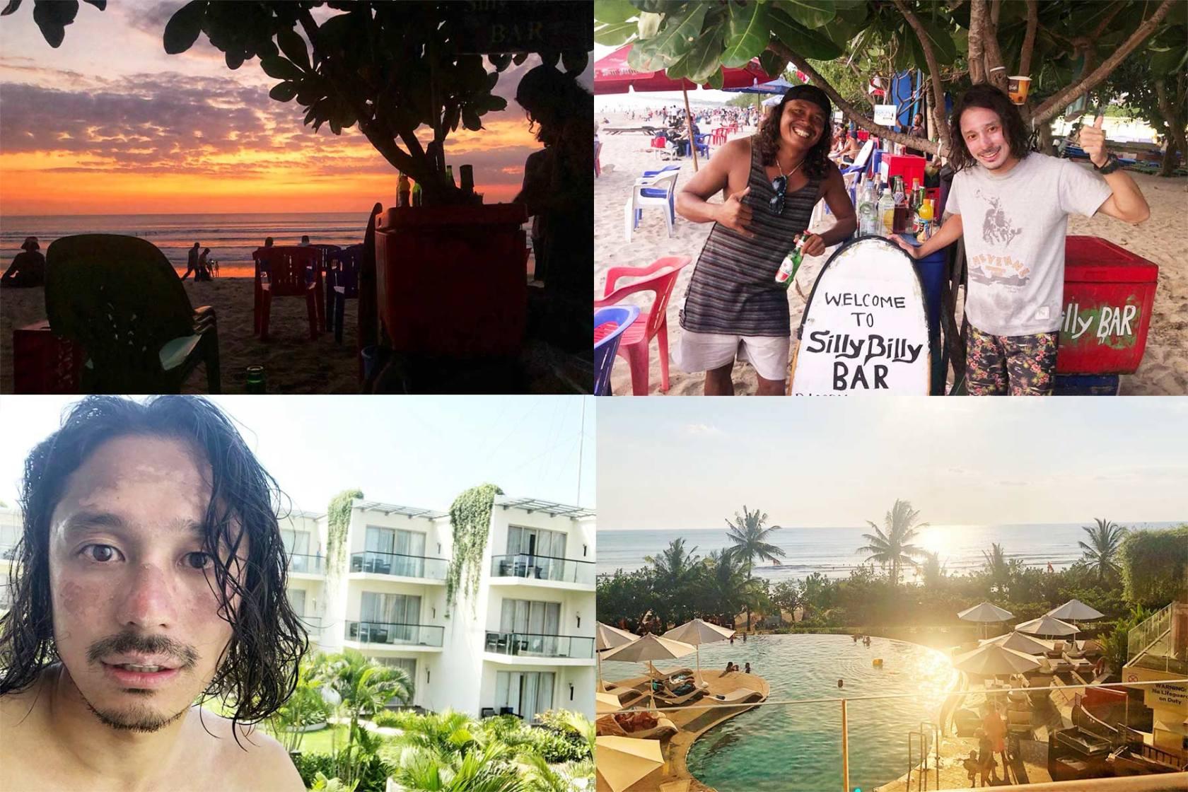 これで青い空と海とお別れ!バリ島最終日はサーフィンとハンバーガーとプールサイドで