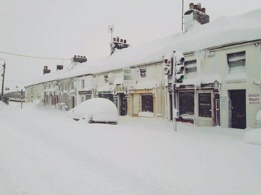 Zima z 2018 roku w Irlandii.