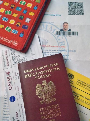 Wiza i dokumenty potrzebne aby wjechać do Indii.