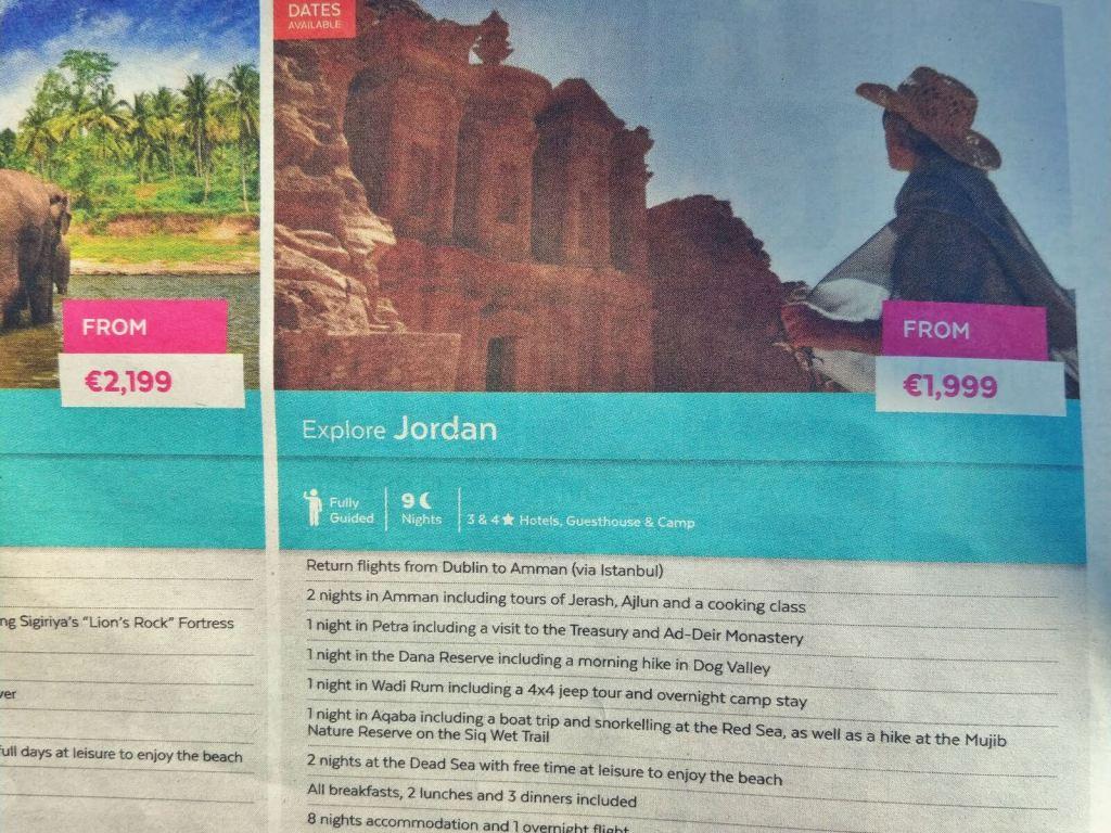 Oferta wyjazdu do Jordanii.