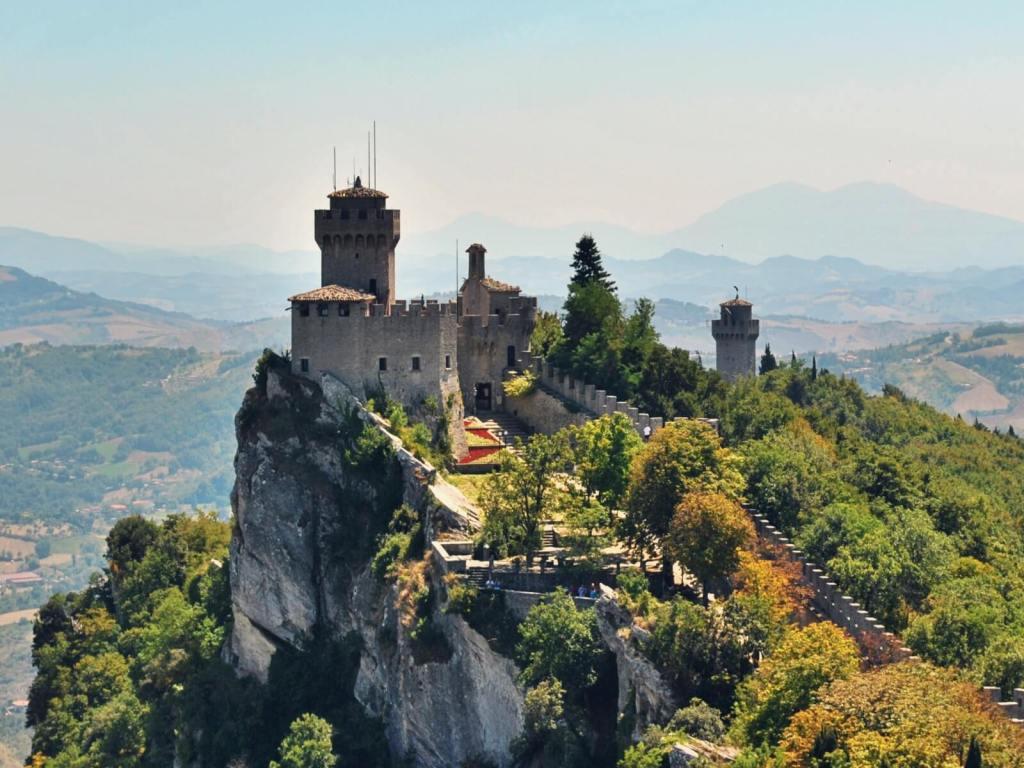 Wieże twierdzy San Marino.
