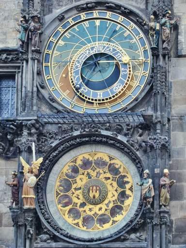 Zegar na praskim ratuszu.