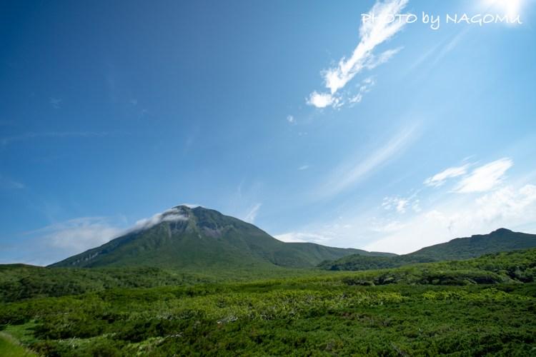 知床岬の展望台より〈羅臼岳〉