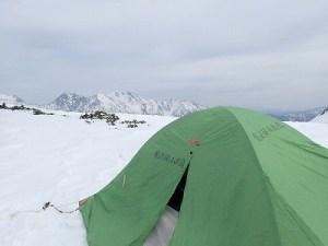 快適なテント場