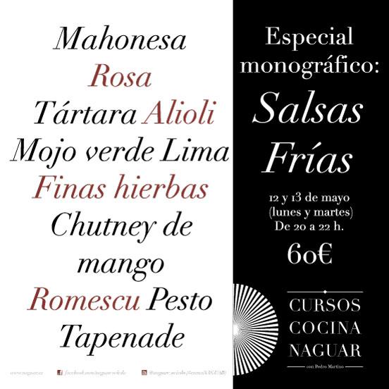 Especial monográfico Salsas frías