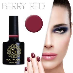 ONE STEP gelinis nagų lakas SOLE GEL BORDO 127