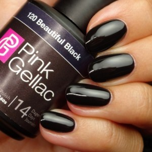 Profesionalus ilgalaikis gelinis lakas Pink Gellac Beautiful Black15 ml