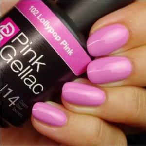 Profesionalus ilgalaikis gelinis lakas Pink Gellac Lollypop Pink 15 ml