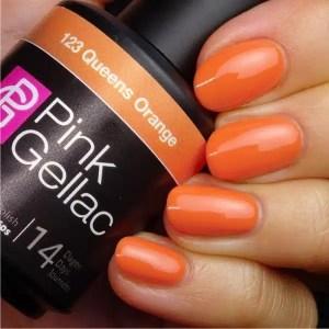 Profesionalus ilgalaikis gelinis lakas Pink Gellac Queens Orange 15 ml