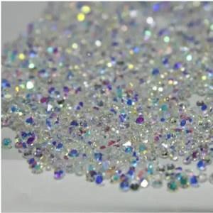 Cirkonio kristalai nagų dailei 1000 vnt