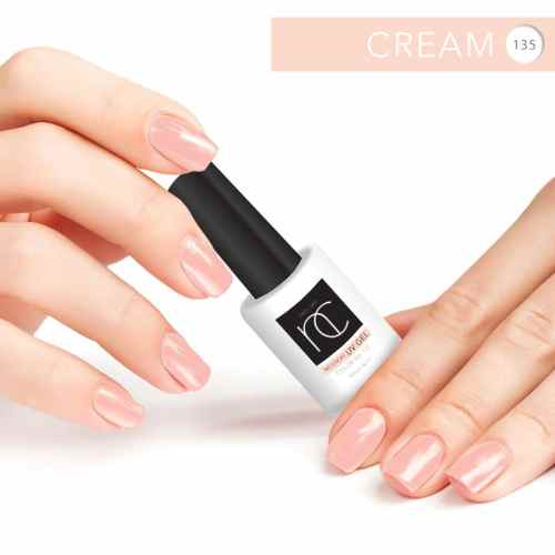 17497932 – hands with red manicure and nail polish bottle isolated