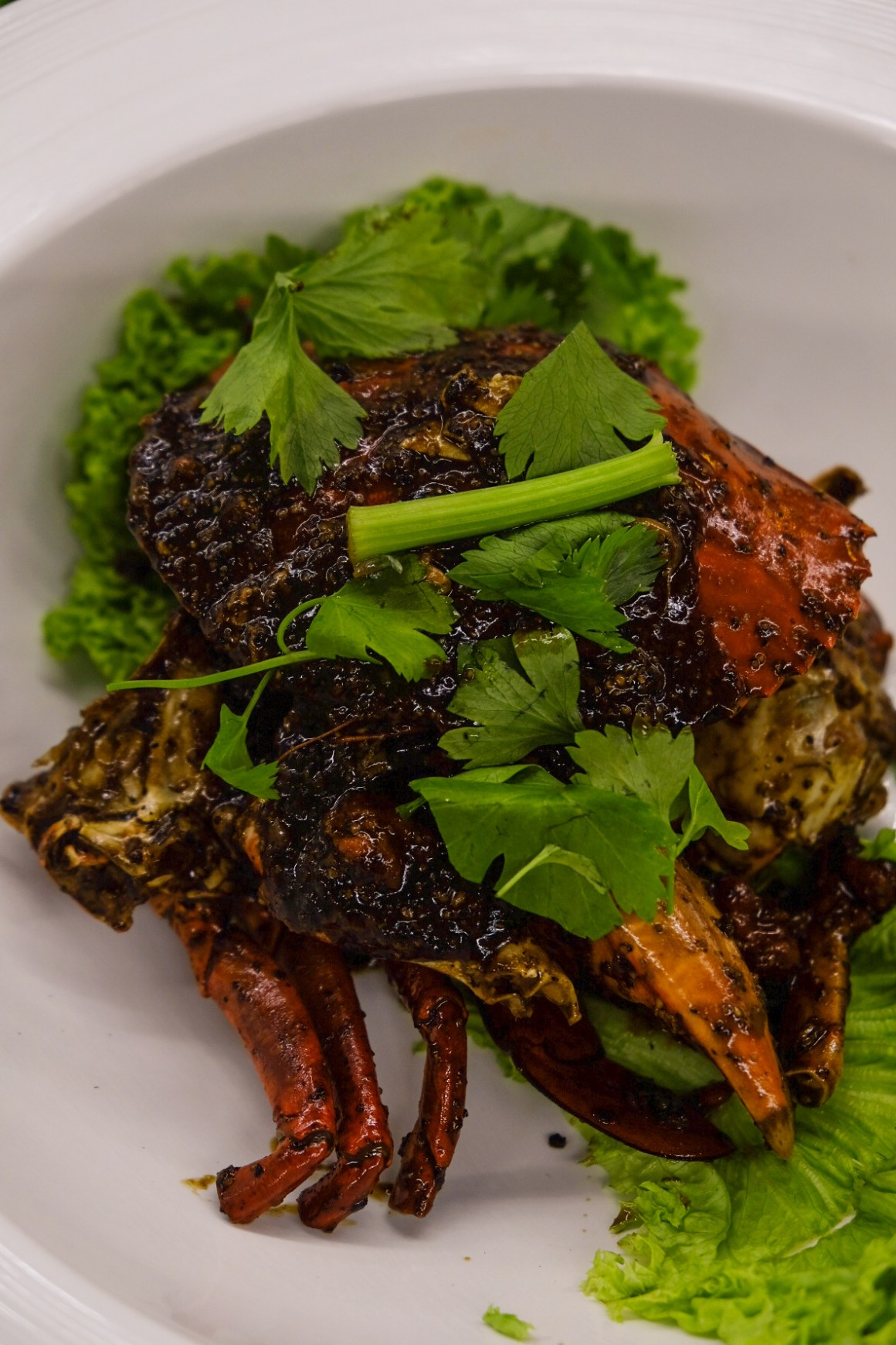 Lai Bao, an Affordable 1960s-inspired Zichar - Lai Bao 13 Spices Black Pepper Crab ($30/$50 1 crab / 2 crabs)