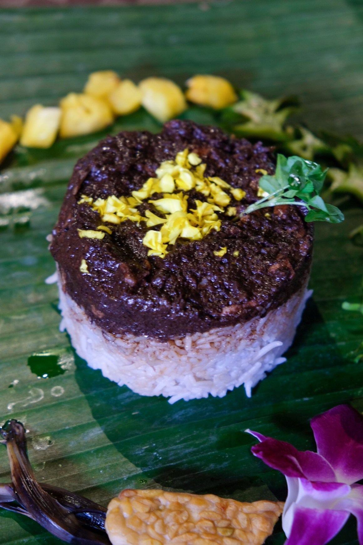Xin Tekka The Food Hall At Tekka Place - Tian of Ayam Buah Keluak with Blue Pea Rice by Casa Bom Vento Express