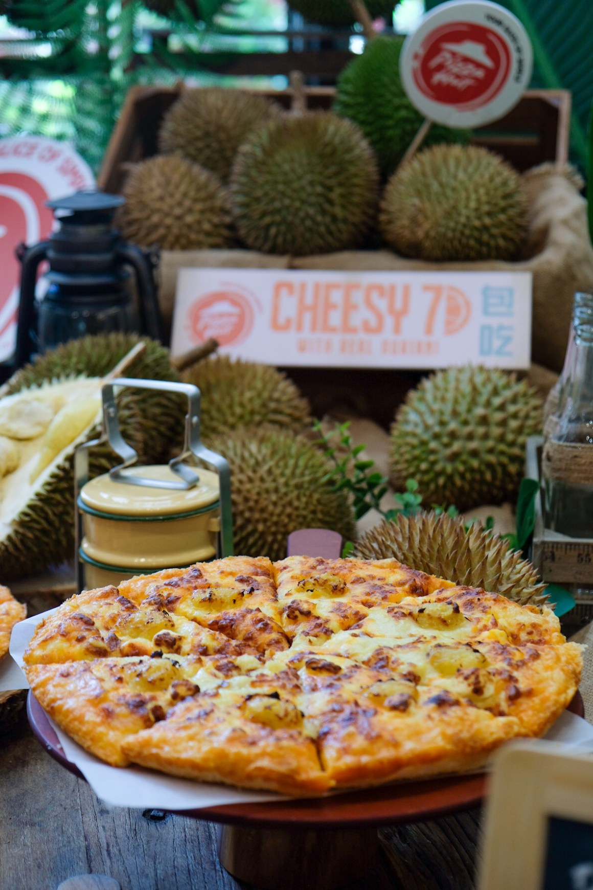 Cheesy 7 Durian Pizza, Pizza Hut New Flavour - Cheesy 7 Durian Pizza