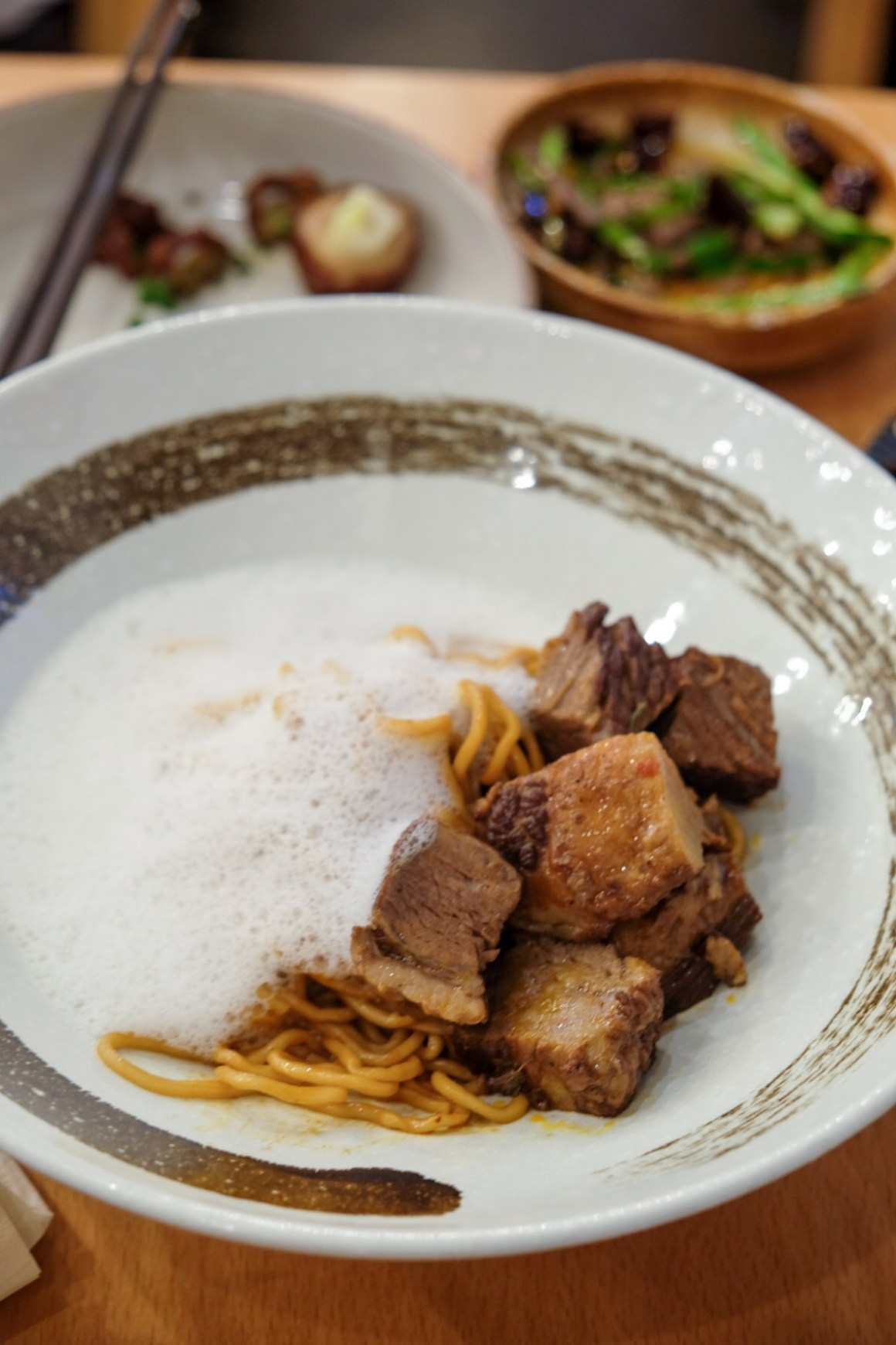 Sichuan Alley: Noodle House By Chef Pang - Red Wine Wagyu Brisket with Truffle Foam Noodles