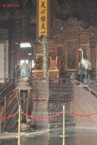 Interior of Hall of Preserved Harmony (保和殿)