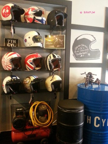 Motor Helmets on display