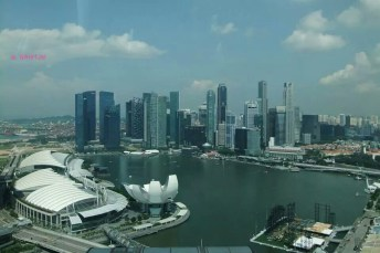 A view from the flyer, the Marina Bay Financial Centre