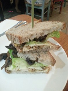 My Order, Roast Chicken Mushroom Sandwich on Sourdough Bread