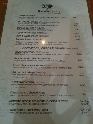 Breakfast, Sandwiches, Wrap & Salad Menu