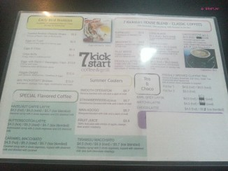 Breakfast and Coffee Menu