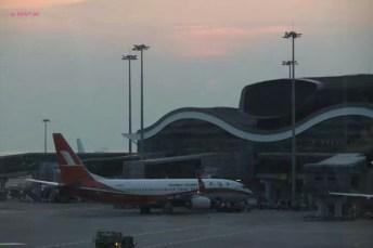 Hong Kong Airport, Sun Set Gone