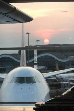Beautiful Sun Set @ Hong Kong International Airport