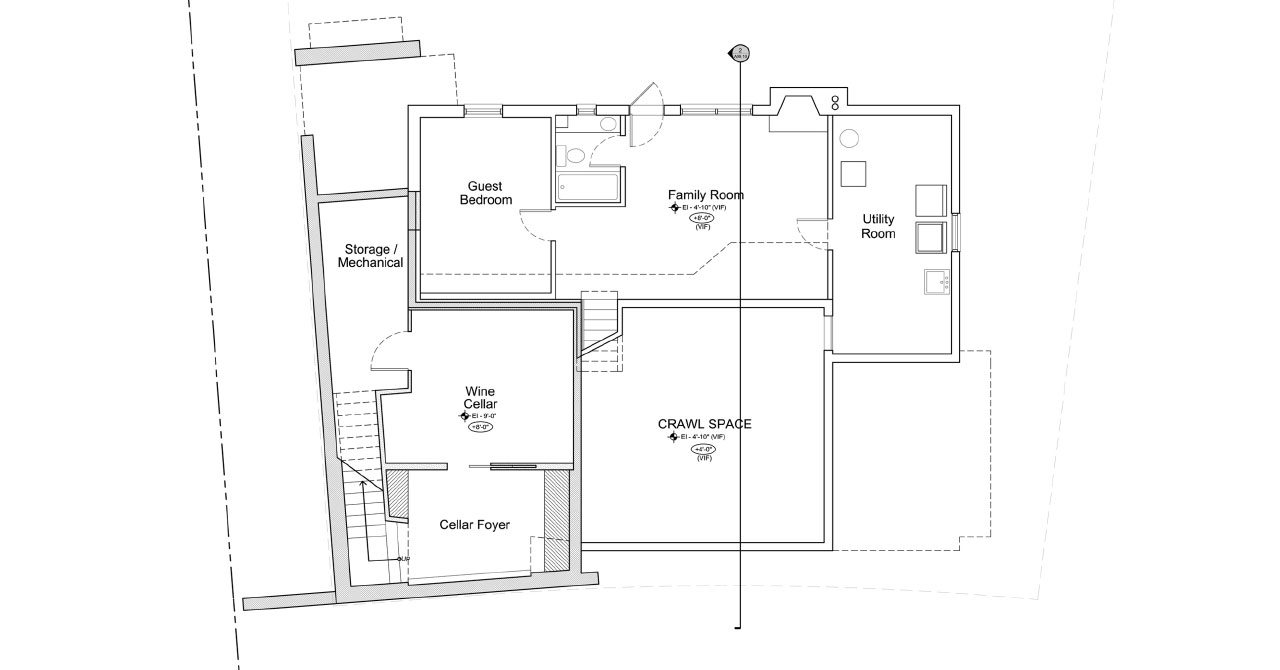 Residence With Custom Wine Cellar | Basement Floor Plan