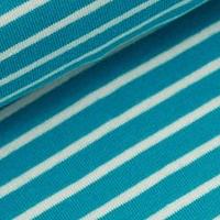 Streifen: Dunkeltürkis/Weiß - 95 % Bio-Baumwolle, 5 % Elasthan