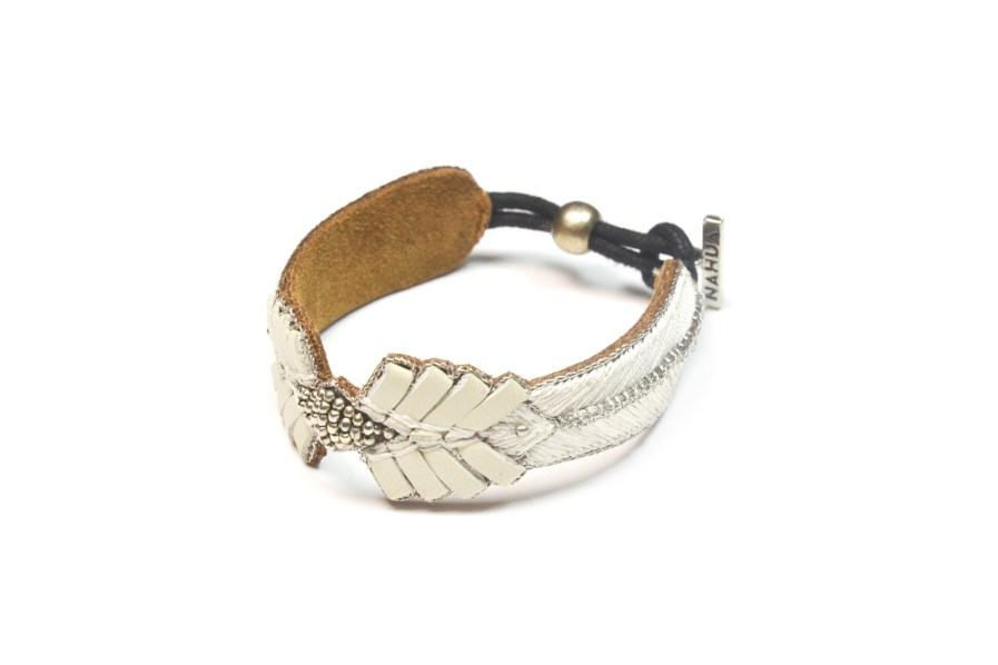 Bracelet rock Colombe | Cream | Photo 2