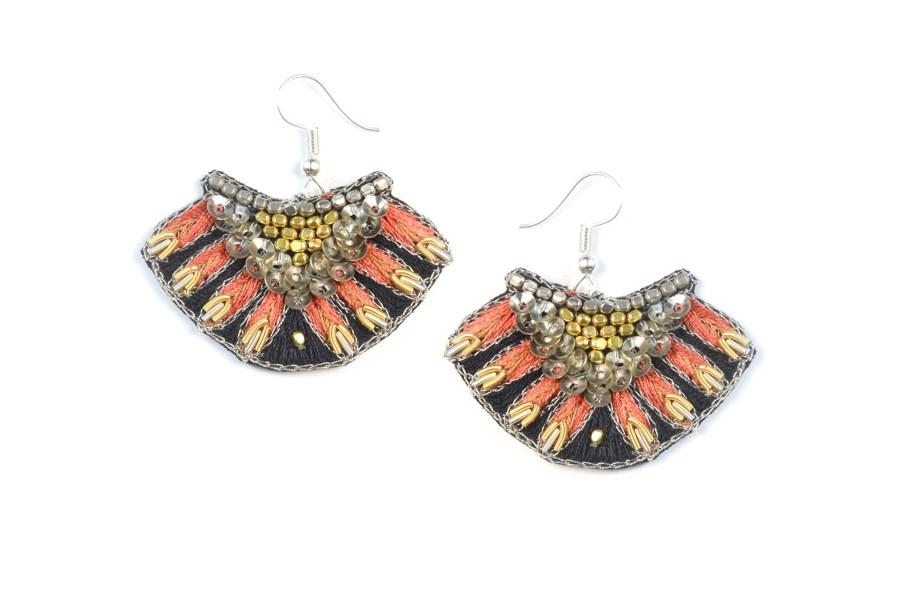 Nidhi earrings - Orange | Photo 1