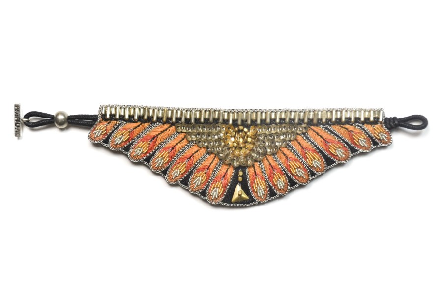 Bracelet ethnique Nita | Orange | Photo 3