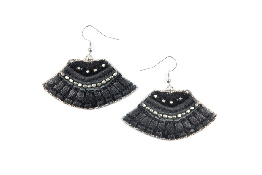 Boucles d'oreilles rock Patsy | Black | Photo 1