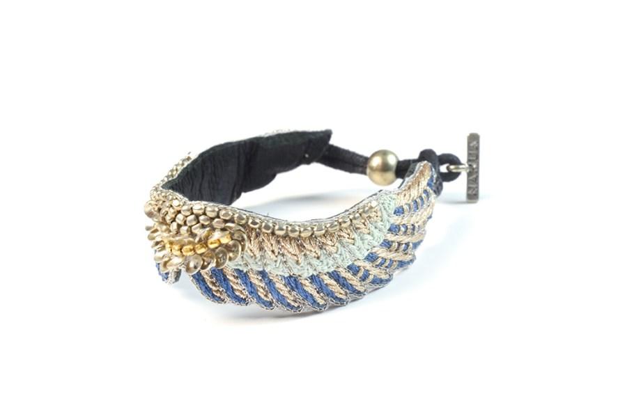 Bracelet bohème Shaila | Duck/Cold Blue | Photo 2