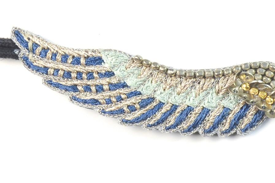 Bracelet bohème Shaila | Duck/Cold Blue | Photo 1