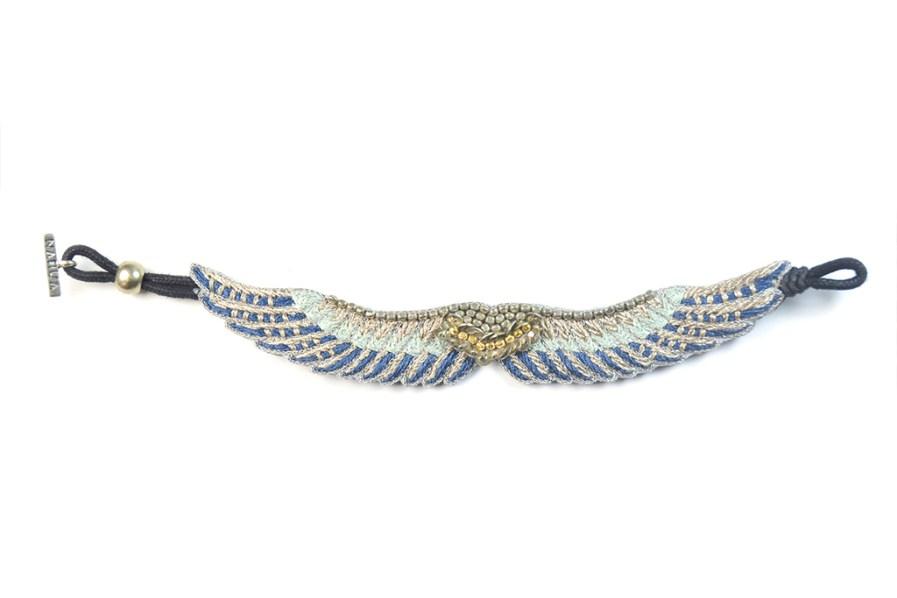 Bracelet bohème Shaila | Duck/Cold Blue | Photo 3