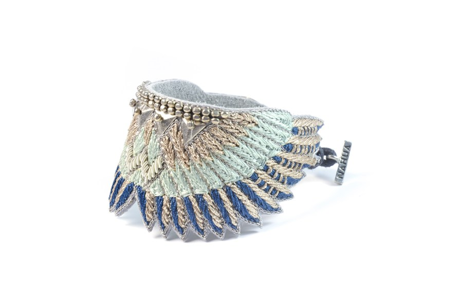 Bracelet bohème Shakti | Duck/Cold Blue | Photo 2