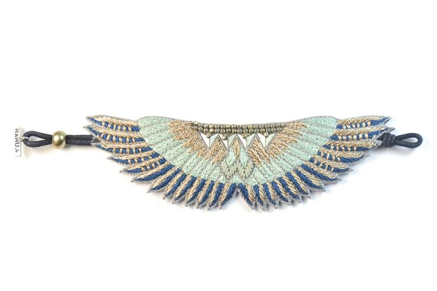 Bracelet bohème Shakti | Duck/Cold Blue | Photo 3